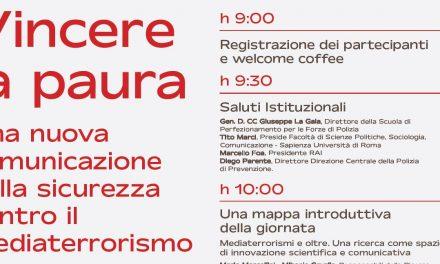 """""""Vincere la paura"""": a Roma, lunedì 31 maggio, convegno su Media e Terrorismi"""
